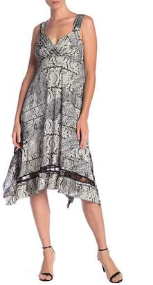 Papillon Handkerchief Hem Lace Inset Dress
