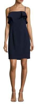 Karl Lagerfeld Paris Sleeveless Ruffled Sheath Dress
