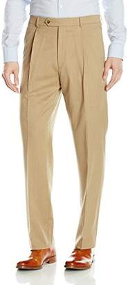 Hart Schaffner Marx Men's Single Pleat Chicago Fit Dress Pant