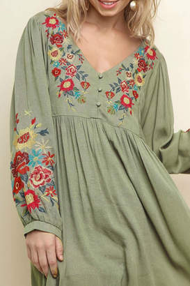 Umgee Floral Babydoll Dress