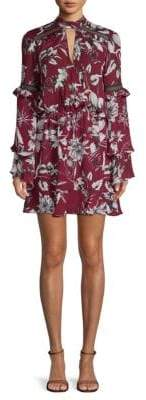 Parker Floral Keyhole Mini Dress