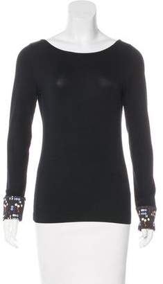 Akris Punto Long Sleeve Scoop Neck T-Shirt