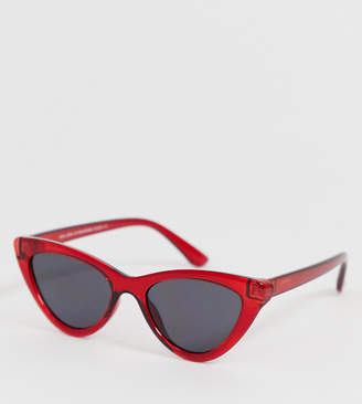 New Look cat eye sunglasses in red