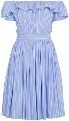 Miu Miu Off the shoulder striped dress