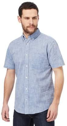 Maine New England MAINE Big And Tall Navy Single Pocket Regular Fit Shirt