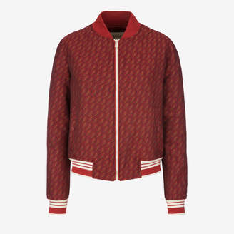 Bally Jacquard Bird Bomber Jacket
