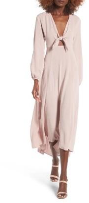Women's Lush Front Tie Maxi Dress $69 thestylecure.com