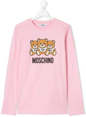 Moschino logo patch long-sleeve top