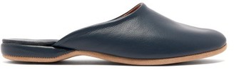 Derek Rose Morgan Leather Slipper Shoes - Mens - Navy