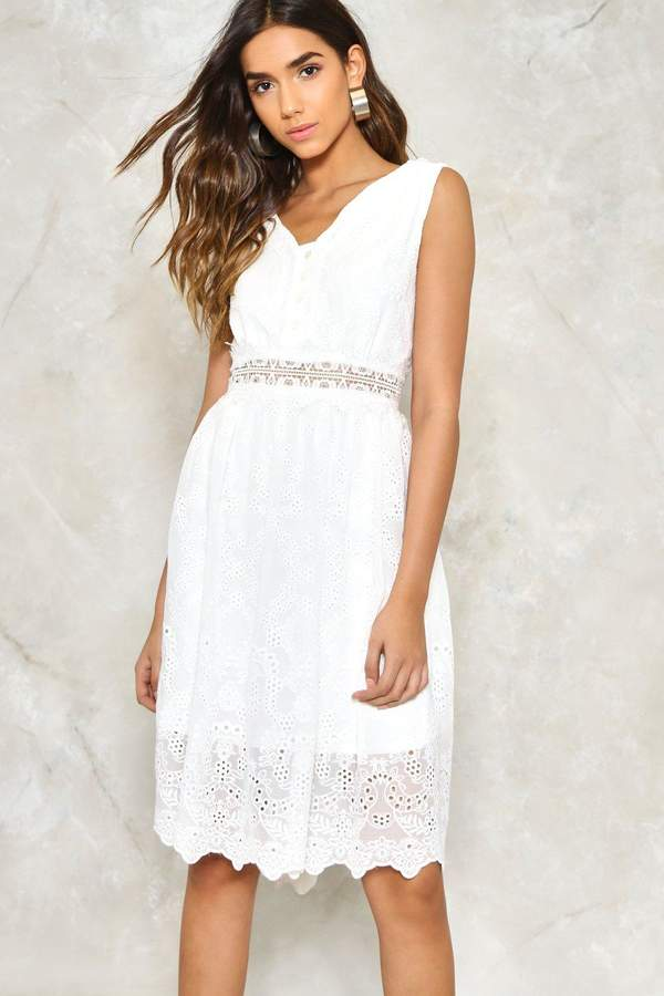 nastygal Thread Lightly Embroidered Dress