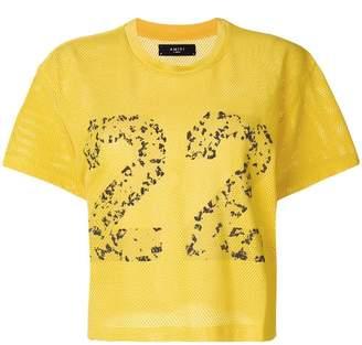Amiri 22 mesh cropped T-shirt