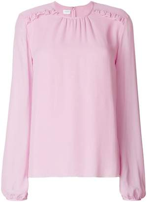 Giambattista Valli frill shoulder blouse