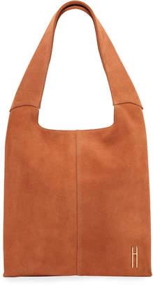 Hayward Medium Grand Suede Shopper Tote Bag, Orange