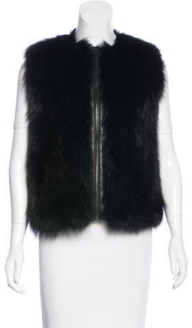 Tom FordTom Ford Fur Zip-Up Vest w/ Tags