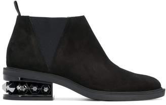 Nicholas Kirkwood crystal heel ankle boots