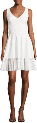 Chiara Boni Lelia Eyelet-Hem A-Line Mini Cocktail Dress