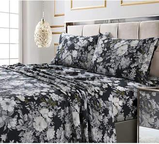 Marwah Corporation/tribeca Living Vernazza Printed 300 Tc Cotton Sateen Extra Deep Pocket Queen Sheet Set Bedding