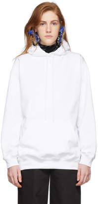 Balenciaga White Logo Hoodie