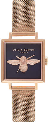 Olivia Burton OB16AM96 rose gold-plated bee motif watch