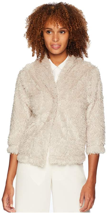 Dylan by True Grit Lite Cashmere Soft Fur Crop Jacket