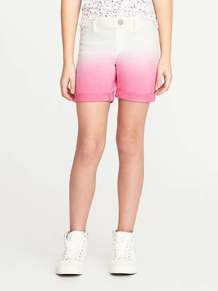 Old Navy French-Terry Dip-Dye Midi Shorts for Girls