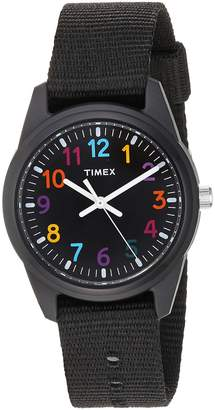 Timex Girls TW7C10400 Time Machines Nylon Strap Watch