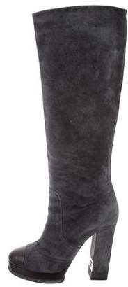 Chanel Platform Knee-High Boots