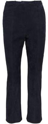 Rosetta Getty Cropped Suede Bootcut Pants