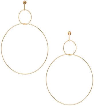 Panacea Large Double-Circle Drop Earrings