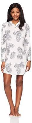 Midnight by Carole Hochman Women's Modal Jersey Henley Sleepshirt