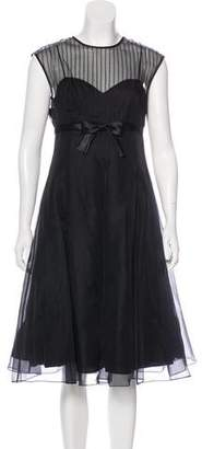 Teri Jon Silk Sheer Dress