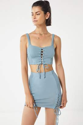 Urban Outfitters Lace-Up Mini Skirt
