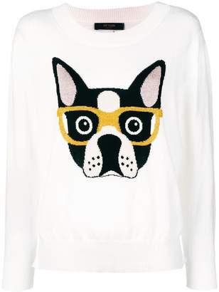 Twin-Set intarsia dog sweater