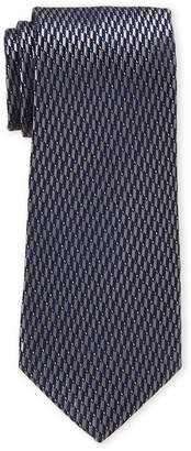 Perry Ellis Portfolio Silver Henley Neat Silk Tie