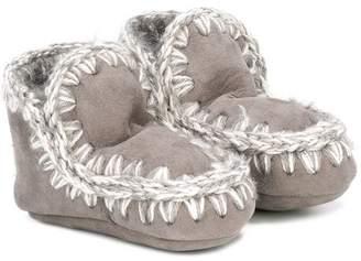 Mou Kids shearling boots