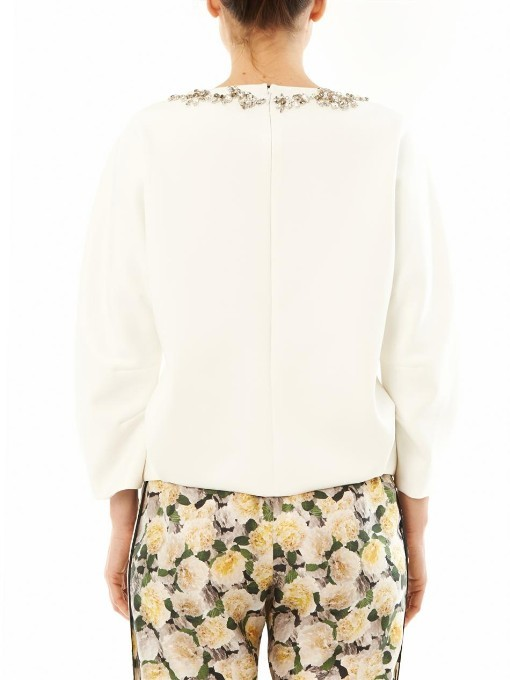 ADAM by Adam Lippes Embellished scuba sweater