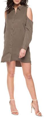 Dex Cold-Shoulder Shirt Dress
