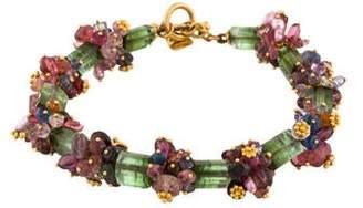 Carolyn Tyler 17K Tourmaline and Multi Gemstone Bracelet