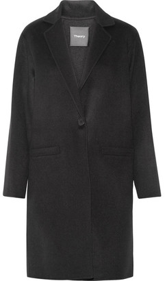 Theory - Peirette Wool And Cashmere-blend Coat - Black $795 thestylecure.com