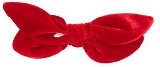 House Of Lafayette - Knotted Double Bow Velvet Hair Slide - Womens - Burgundy