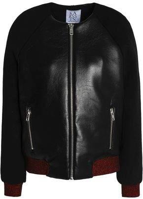 Zoe Karssen Faux Leather Bomber Jacket