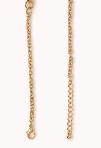 Forever 21 Spiked Rhinestone Necklace