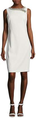 Badgley Mischka Women's Beaded Sheath Dress