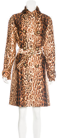 CelineCéline Leopard Print Virgin Wool & Silk Coat