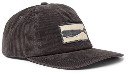 Mollusk Appliquéd Corduroy Baseball Cap