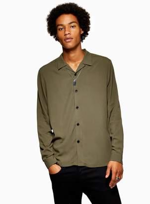 Topman Khaki Revere Shirt