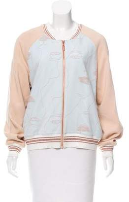 Raoul Embroidered Bomber Jacket