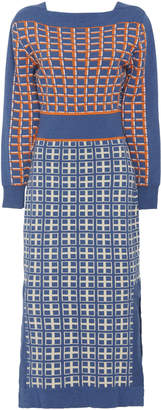 Temperley London Yukata Cotton-Blend Knit Dress