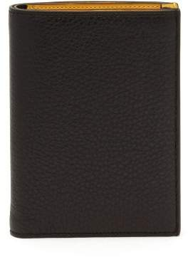 Maison Margiela Leather Bi Fold Wallet - Mens - Black
