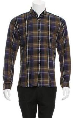 Public School Plaid Button-Up Shirt